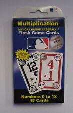 Major League Baseball Mlb Mulitiplication Flash Cards New Sealed