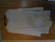 NEW next...size 20 stretch crinkly cream tunic top...rp £ 25