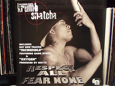 "KRUMB SNATCHA / GANG STARR - RESPECT ALL FEAR NONE (ALBUM POSTER) (12""X12"")!!!"