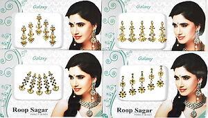 1 PACK of GOLD Diamante **CHOOSE YOUR STYLE** Indian BRIDAL Gem TIKKA BINDI