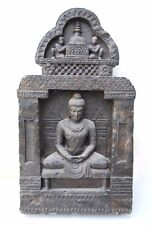 Buddha In Enlightenment Stone Statue Rare Gandhara Style Art Meditation