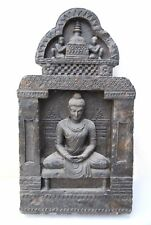 Buddha In Enlightenment Stone Statue Rare Gandhara Style Art Meditation
