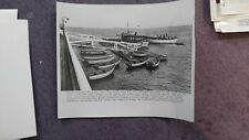 Vtg Press Photo Salem Willows Mass Fishing Boats After Storm with Rescue Boat 52