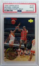 1995-96 UD Electric Court Gold Michael Jordan #137, PSA 9, Pop 5, Only 4 Higher!