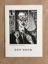"Program booklet ""the Snob"" - Renaissance Theater Berlin-season 1964/65 - Top"