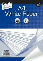 A4 White Paper 75 Sheets Stationery Copy Printer Office Home Copier Printing