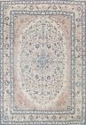 Antique Muted Floral Najafabad Area Rug Evenly Low Pile Oriental Handmade 10x12