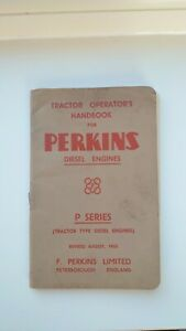 Original 1952 Tractor Operations Book for Perkins Diesel Engines