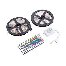 10M 600LEDS 3528 SMD RGB 2X 5M LED light strip + 44 Key IR Remote Controller (a