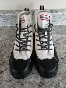 Hunter for Target Canvas Dipped White Ankle Rain Boots Men's 5.5 Women 7.5
