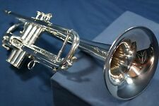 Henri Selmer Paris 75 Radial Trumpet in C and Bb, Silver Plate w/Case,Mouthpiece