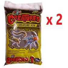 2x Zoo Med Creatures Soil 1L Coco Bedding Reptile Terrarium Substrate Humidity