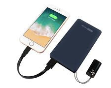 10,000mAh power bank with Ligthning cable 2 ports fast charge premium thin