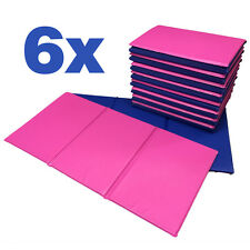 NEW 6x Folding Nursery Sleep Mats Blue / Pink for Children & Toddlers