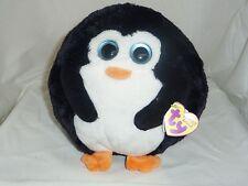 Avalanche Ty Beanie medium 8in Ballz black and white Penguin Mwmt 38510