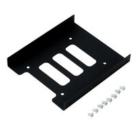 """Black 2.5"""" SSD to 3.5"""" Bay Hard Drive HDD Mounting Dock Tray Bracket Adapter 1 X"""
