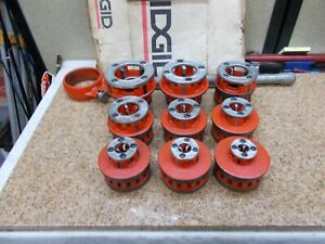 "Ridgid Rigid 1/8""-2"" 12R Pipe Threading Threader Die 9 piece Set"