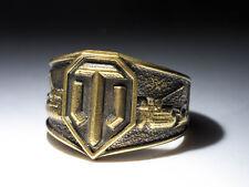 World Of Tanks Ring, handmade, brass, size 21 mm / US 11.5, WoT