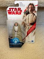 """Force Link Star Wars 3.75"""" Last Jedi Luke Skywalker Hasbro NON-MINT Package"""