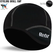 Cycling Skull Cap Under Helmet Roubaix Stretch Thermal Bicycle Grey - Side Logo