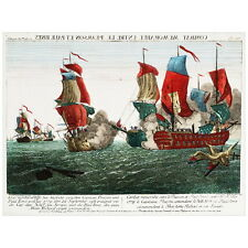 Combat memorable entre le Pearson et Paul Jones Deco FRIDGE MAGNET, 1779