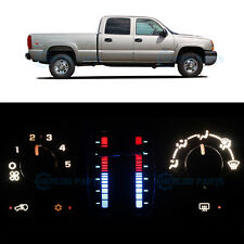 Full Heater Control White LED Light for 2003-2006 Chevy Silverado 2500 HD No LCD