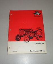 Teilekatalog /  Ersatzteilliste Massey Ferguson Schlepper MF 65 - St. 02/1966