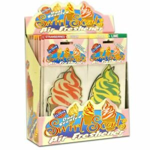 Swirl Scents Dual Scented Ice Cream Air Freshener Home/Car 1-2-4-8-12-24pcs