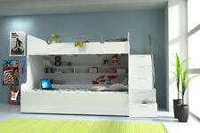 Doppelstockbett Etagenbett Bett Kinderbett Jugendbett Hochbett Neu Weiß/Weiß