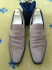 PRADA MENS SHOES BEIGE SUEDE LOAFERS UK 10 US 11 EU 44 MADE IN ITALY
