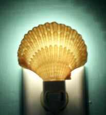 SEA SHELL NIGHT LIGHT MEXICAN DEEP SCALLOP  DECOR CRAFT REEF NAUTICAL  BEACH