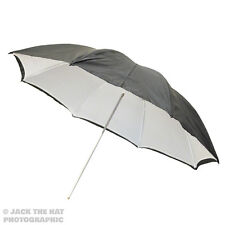 "33"" Pro Studio Flash Umbrella - Black & White Reflector Brolly. Removable Back."