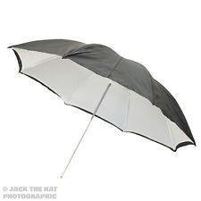 """33"""" Pro Studio Flash Umbrella - Black & White Reflector Brolly. Removable Back."""