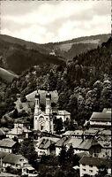 Todtnau Schwarzwald alte Ansichtskarte ~1950/60 Teilansicht Kirche Wald Häuser