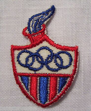ÉCUSSON PATCH BRODE thermocollant - FLAMME OLYMPIQUE N°2 ** 6 x 4 cm **