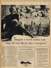1945 Martin Aircraft PRINT AD Mars transports WWII Flying Boats
