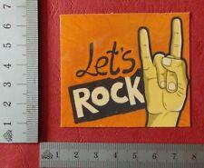 "Sticker Aufkleber ""Let's Rock"" Glanz-Optik Stickerbomb Skateboard Laptop"