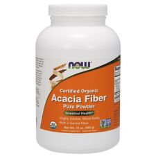Now Foods Acacia Fiber Organic Powder - 12 Oz. Made in USA FREE SHIPPING