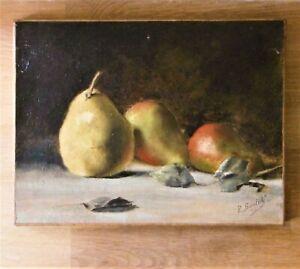 Tableau XIX ème, peinture/huile/toile signé P. Bastidé daté 1896.