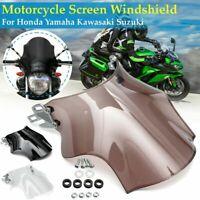 Motorrad Windschutzscheibe Windschild für Honda Yamaha Suzuki Rund Scheinwerfer