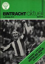 BL 77/78 Eintracht Braunschweig - Hertha BSC, 01.04.1978 - Erich Beer