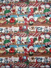 New listing Vintage Raggedy Ann & Andy Toys on Shelf Springs Industries Cotton Fabric 2yards