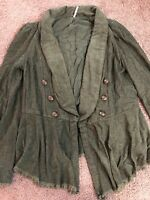 Free People Throwback Cordoury Military Lace Inset, Womens Size Medium