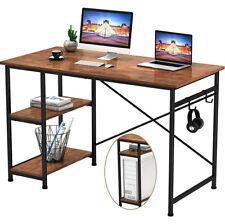 120CM Computertisch Arbeitstisch Schreibtisch PC-Tisch mit 2 Regalebenen Jugend