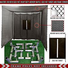 Cimarron Sports Practice Golf Cage Net 10'x10'x10' Frame Kit CM-MAS10GNTC - NEW
