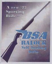 BSA 1947 -.22 Ralock Self Loading Rifle Flyer