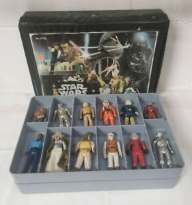Lucas films, vintage star wars collection 1977 - 1983 figures and collector case