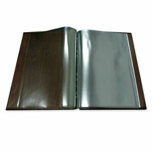 Pack of 10 inserts A4 pockets for wooden menu pouches, Restaurant, Pub, Hotel