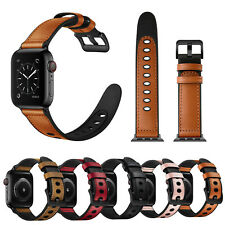 Sports Rubber Band Leather Strap for Apple Watch Series 6 5 4 3 Wristwatch Bands
