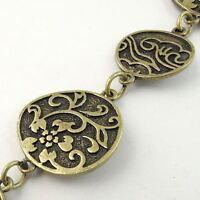 Vintage Bronze tone Alloy Necklace Round Link Sweater Chain 1M 1piece